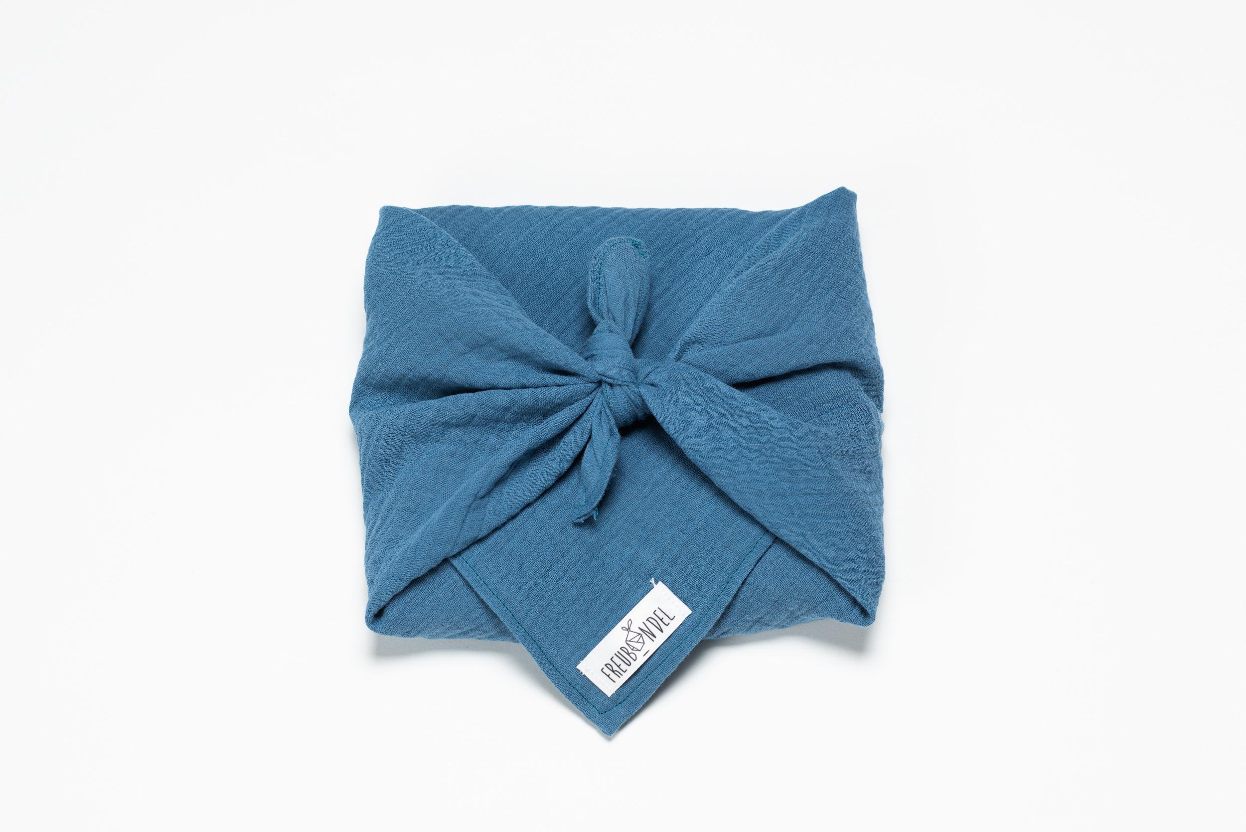 Freubündel-Tuch Musselin dunkelblau