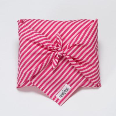 Geschenkverpackung pink gestreift