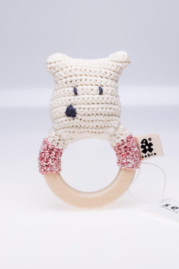 Gehäkelte Eisbär-Rassel von sebra