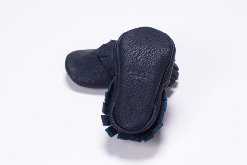 Mokassins von Small & Tiny in dunkelblau.