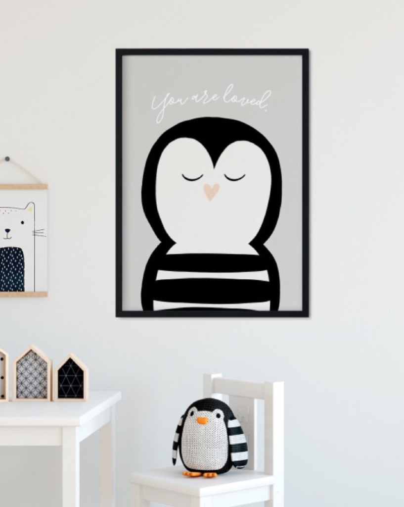 Pinguin-Poster von Stennie Design