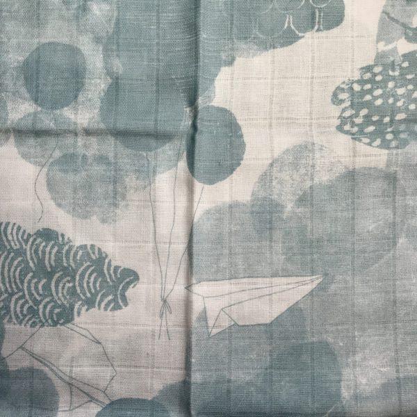 Eines der Spucktücher im Set ist mit diesem Muster bedruckt.
