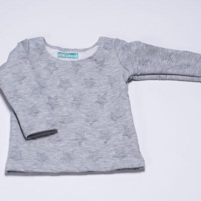 "Sweatshirt ""Sterne"" von Ellas Oma Näht in grau"