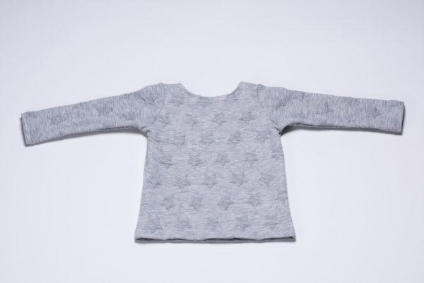 """Sweatshirt """"Sterne"""" von Ellas Oma Näht in grau von hinten"""