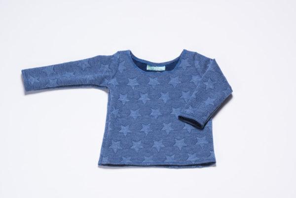 "Sweatshirt ""Sterne"" von Ellas Oma Näht in blau"