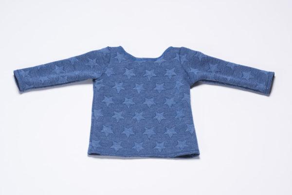 """Sweatshirt """"Sterne"""" von Ellas Oma Näht in blau von hinten"""