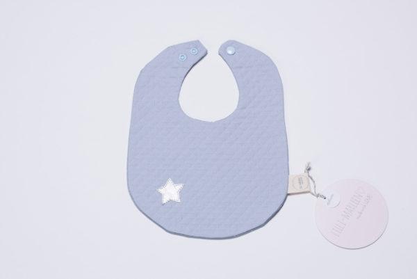 """Lätzchen """"be a STAR"""" aus der Lilli-Marleen Deluxe-Kollektion in blau"""
