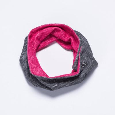 Wende-Loop von Ellas Oma Näht in grau und pink.