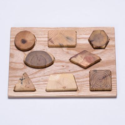 Naturholz Steckpuzzle Geo von MamumaBird