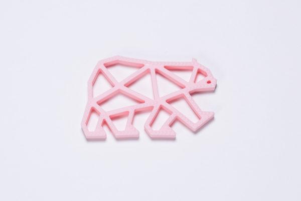Zahnungshilfe Teddy Teether rosa von The Cotton Cloud