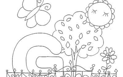 Ausmalbild G wie… Garten