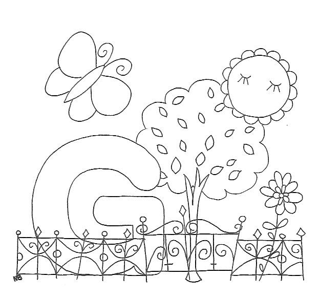 Ausmalbild G Wie Garten Freubündel