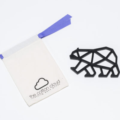 Teddy Teether schwarz black The Cotton Cloud