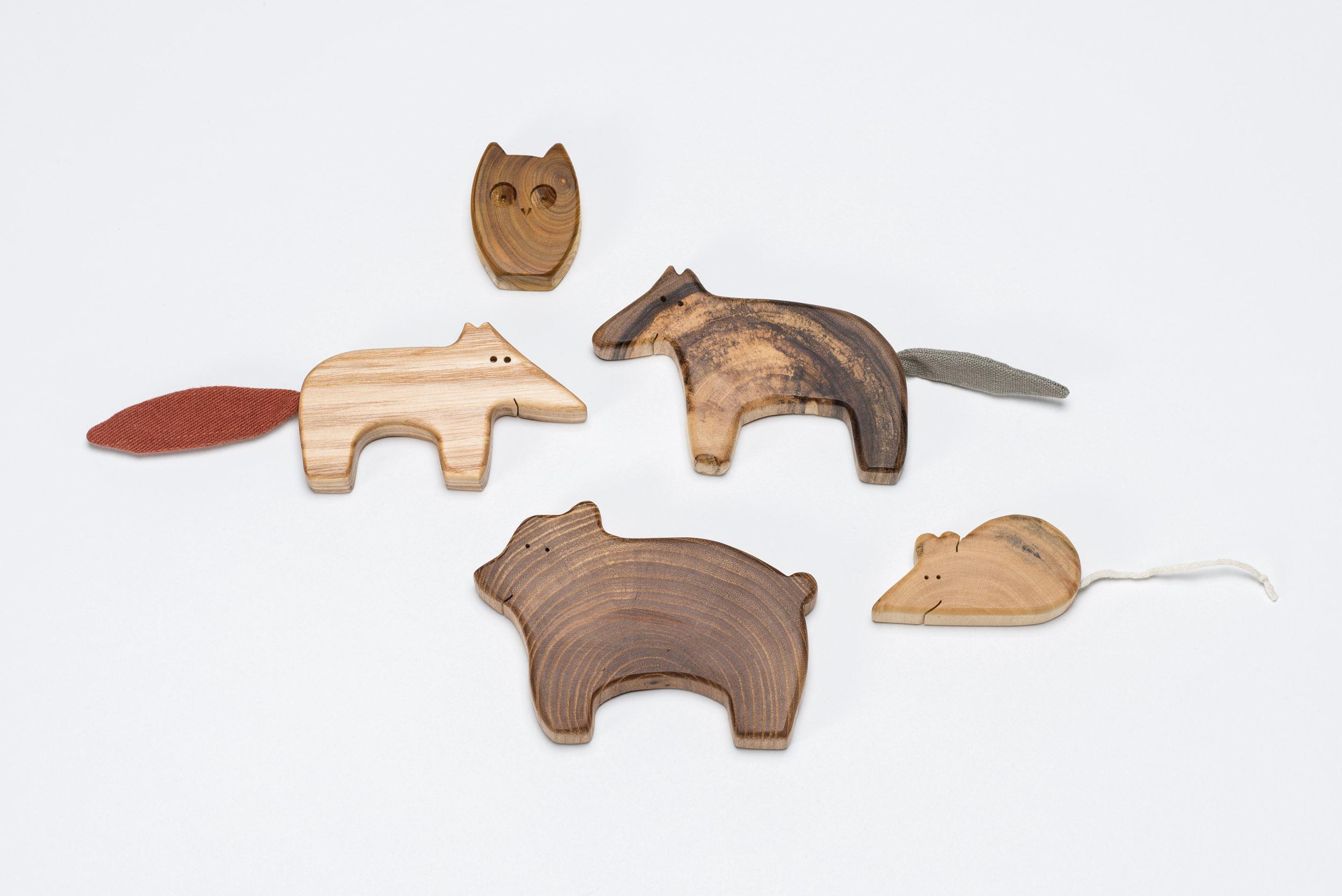 Waldtiere aus verschiedenen Holzarten von MamumaBird