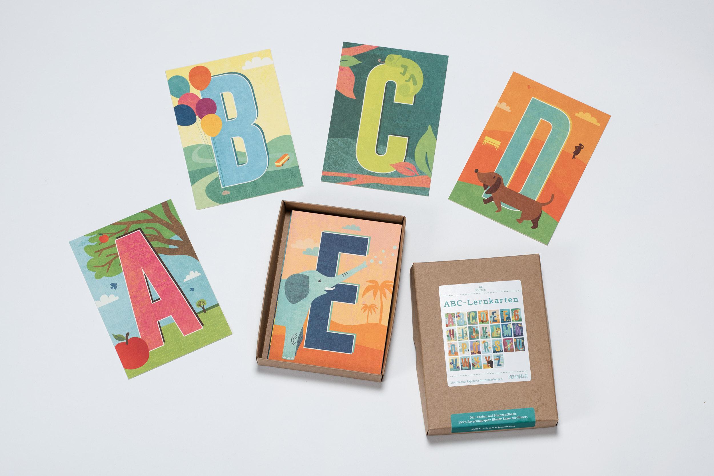 ABC-Lernkarten von Monimari