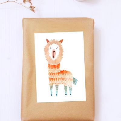 Postkarte Alpaka von noull