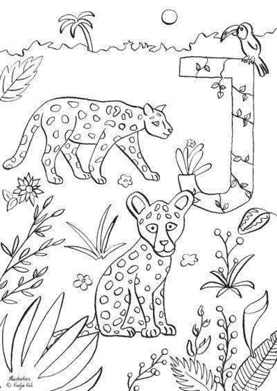 Ausmalbild J Wie Jaguar Von Katja Rub Freubündel