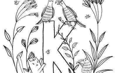 Ausmalbild K wie… Kakadu von noull