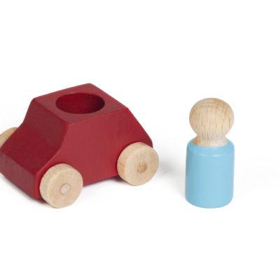 Spielzeugauto von Lubulona in rot