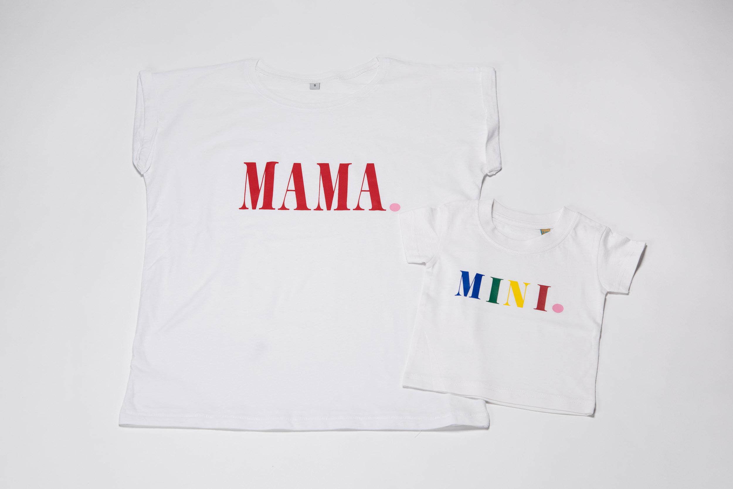 Mama und Mini – Handbedruckte Shirts von Whatelse