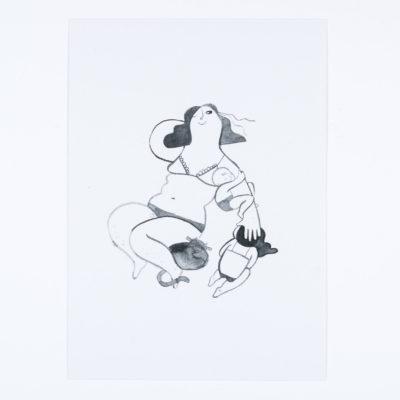 Postkarte Kuscheltermin von Karin Lubenau