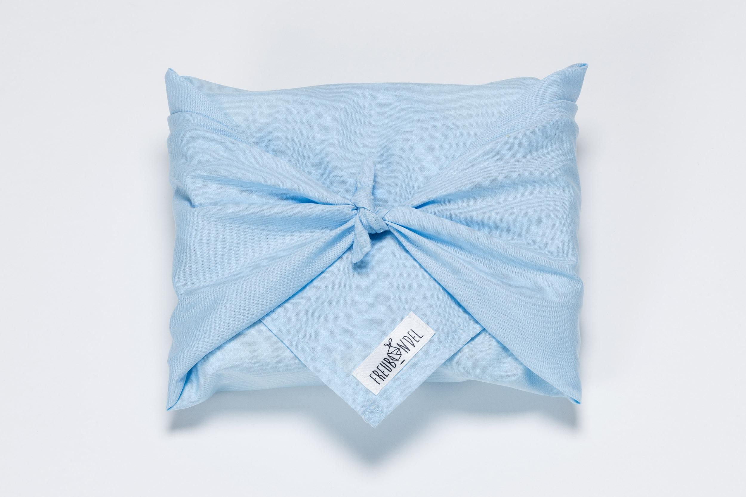 Freubündel mit Tuch in babyblau