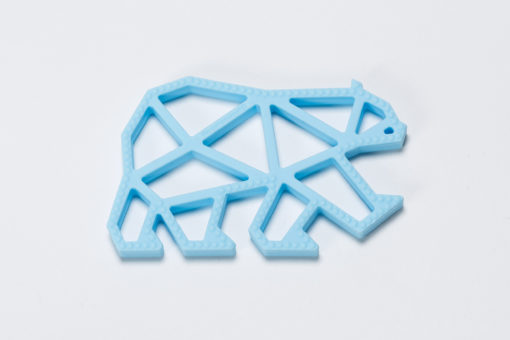 Teddy Teether light blue The Cotton Cloud