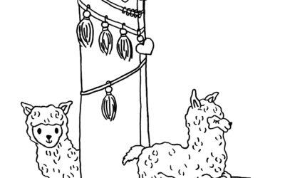 Ausmalbild L wie… Lama von Julia Klein Designs