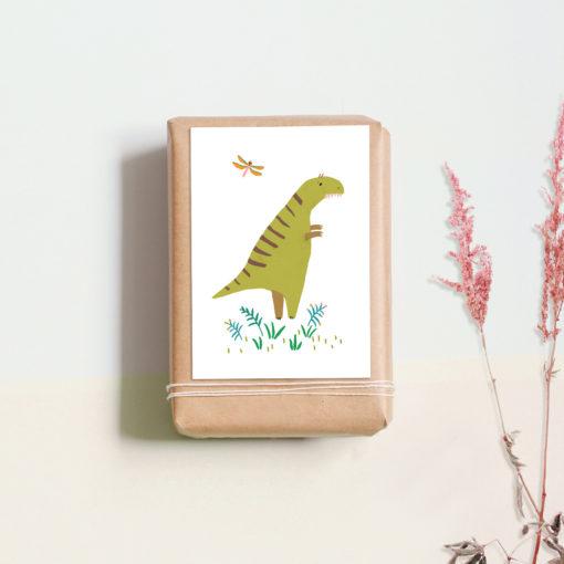 Postkarte Dino von noull