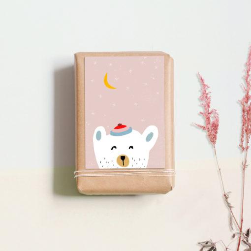 Postkarte Eisbär von noull