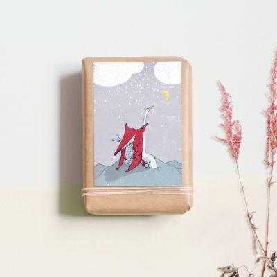 """Postkarte """"Fuchs und Gans"""" von noull"""