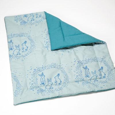 Babydecke blau normadot
