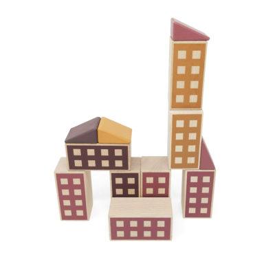 Holzbauklötze Happy Houses von Lubulona