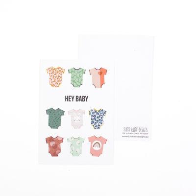 Postkarte Hey Baby von Julia Klein Designs