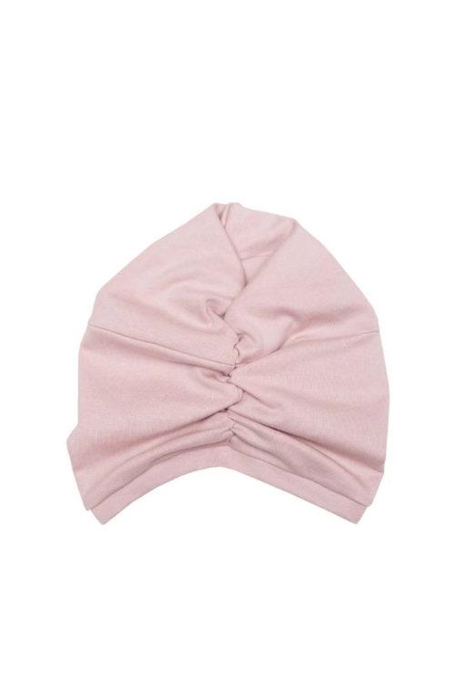 Turban Mütze von Wooly Organic altrosa