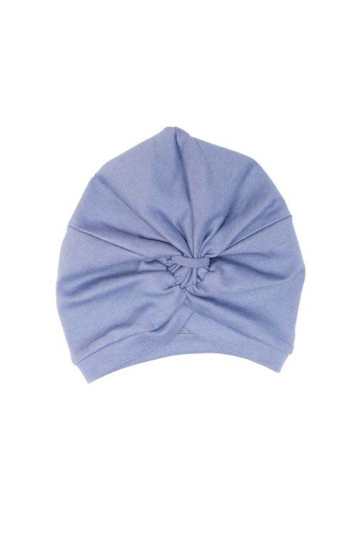 Turban Mütze in rauchblau