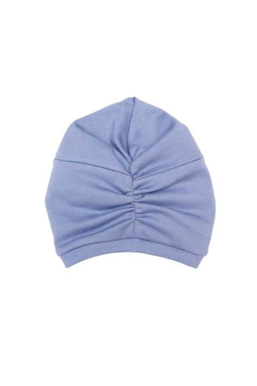 Turban Mütze rauchblau