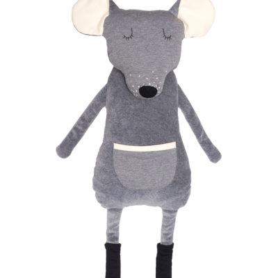 Riesen-Kuscheltier Maus von Wooly Organic