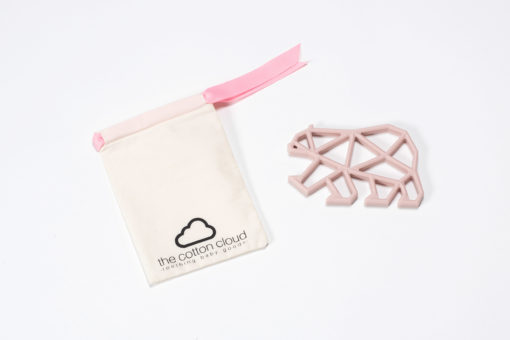 Teddy Teether altrosa The Cotton Cloud