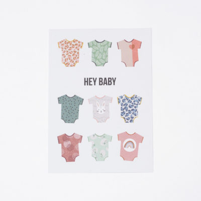Postkarte Hey Baby Julia Klein Designs