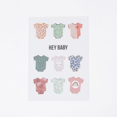 Postkarte Hey Baby Julia Klein Designs