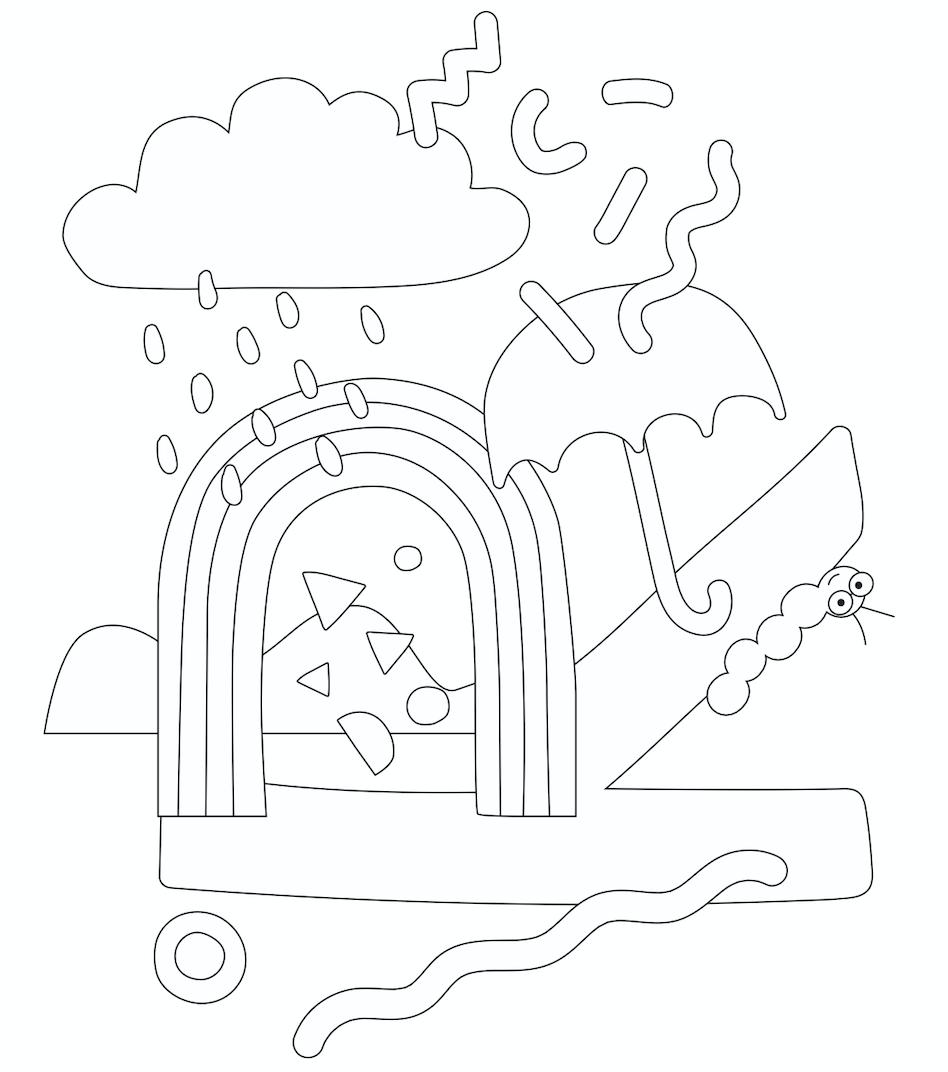 Ausmalbild R wie… Regenbogen von Anna Beddig