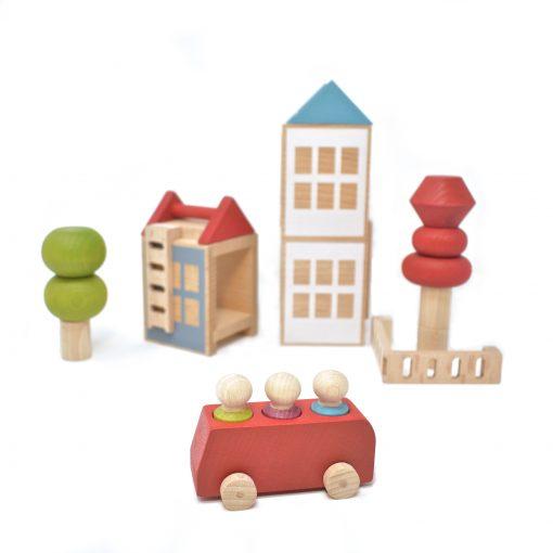 Stapelspielzeug Stacking Trees und Bus von Lubulona