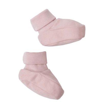 Babyschuhe im Rosaton Dusty Pink von Wooly Organic