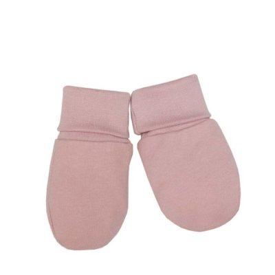 Babyfäustlinge von Wooly Organic in der Farbe Dusty Pink