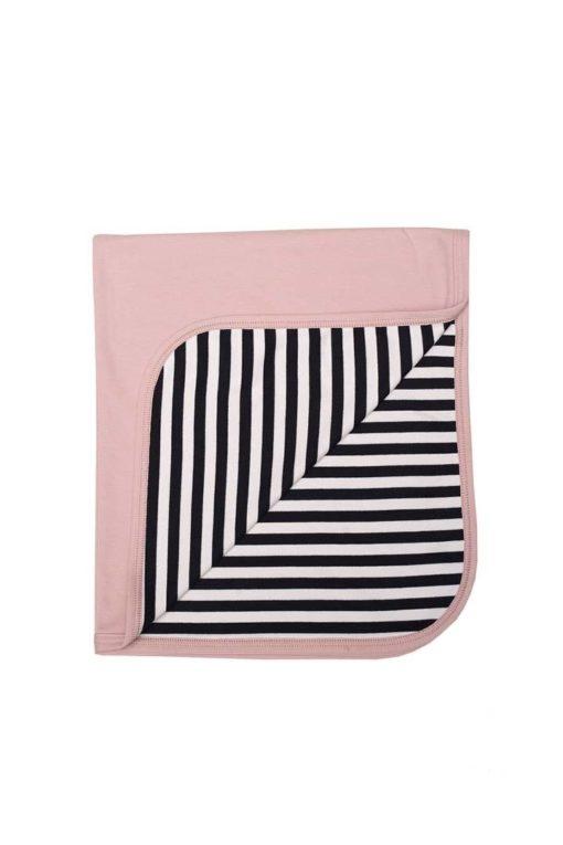 Babydecke von Wooly Organic in der Farbe Dusty Pink. GOTS-zertifiziert.