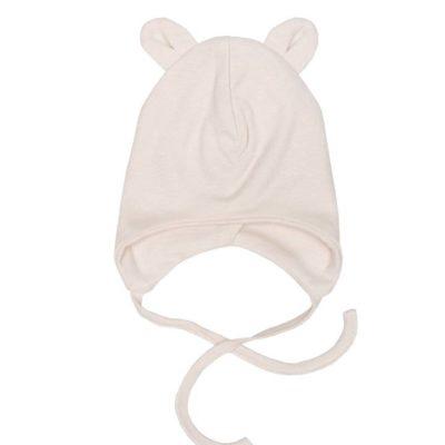 Babymütze mit Teddyohren von Wooly Organic GOTS-zertifiziert