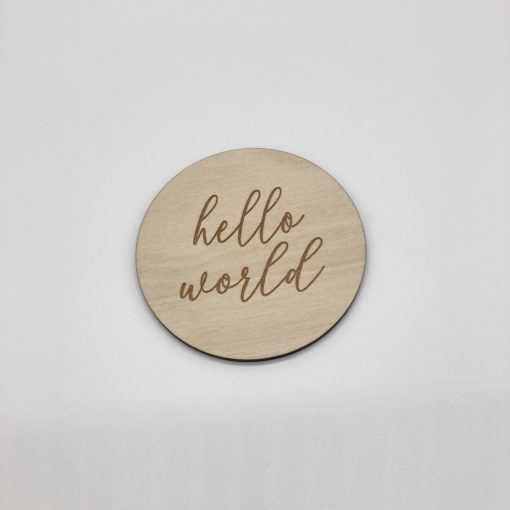 Holzschild hello world Liebding Manufaktur