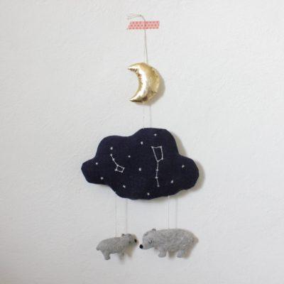Mobile Großer und kleiner Bär Glow in the dark Regenpanda