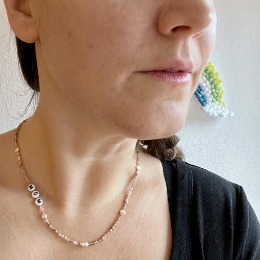 Halskette Mom mit Süßwasserperlen von Bananaclub Official